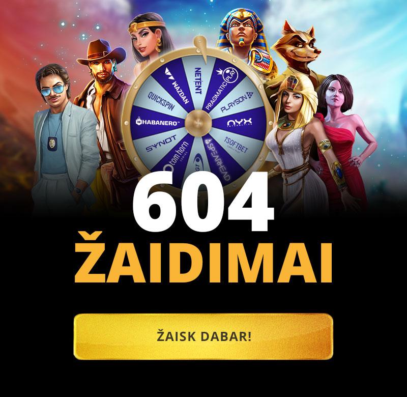 Rinkis iš 590 žaidimų