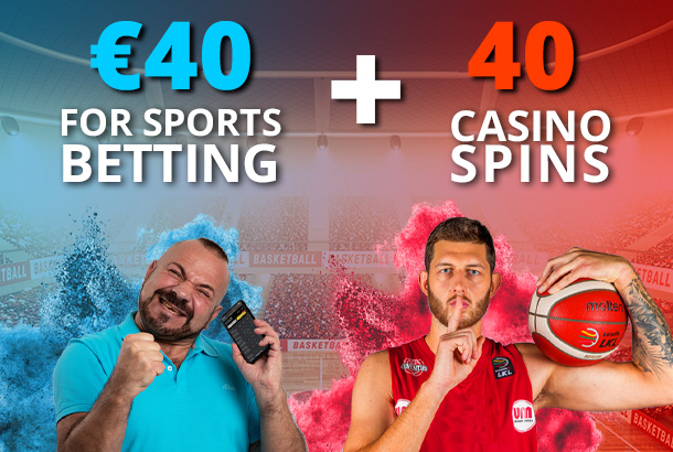 40€ for Sports + 40 Spins