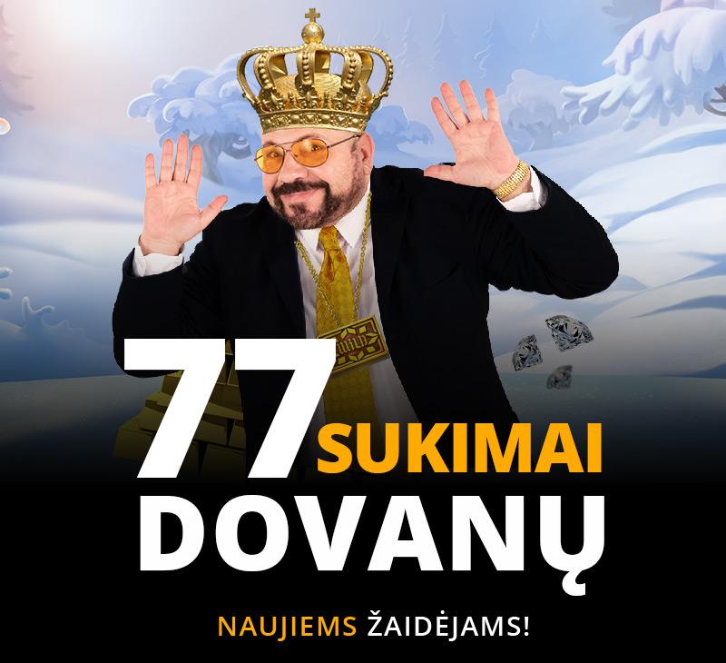 77  sukimai  dovanų