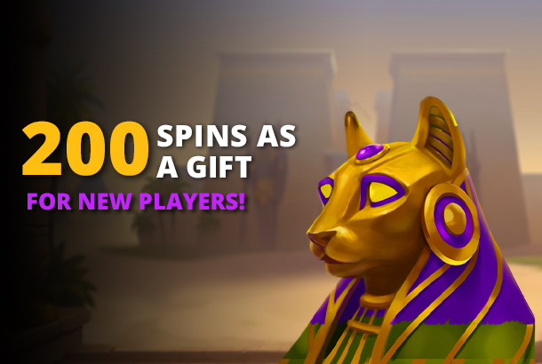 200 Spins  as a Gift