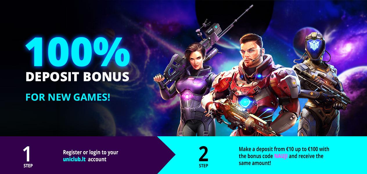 100% bonus!
