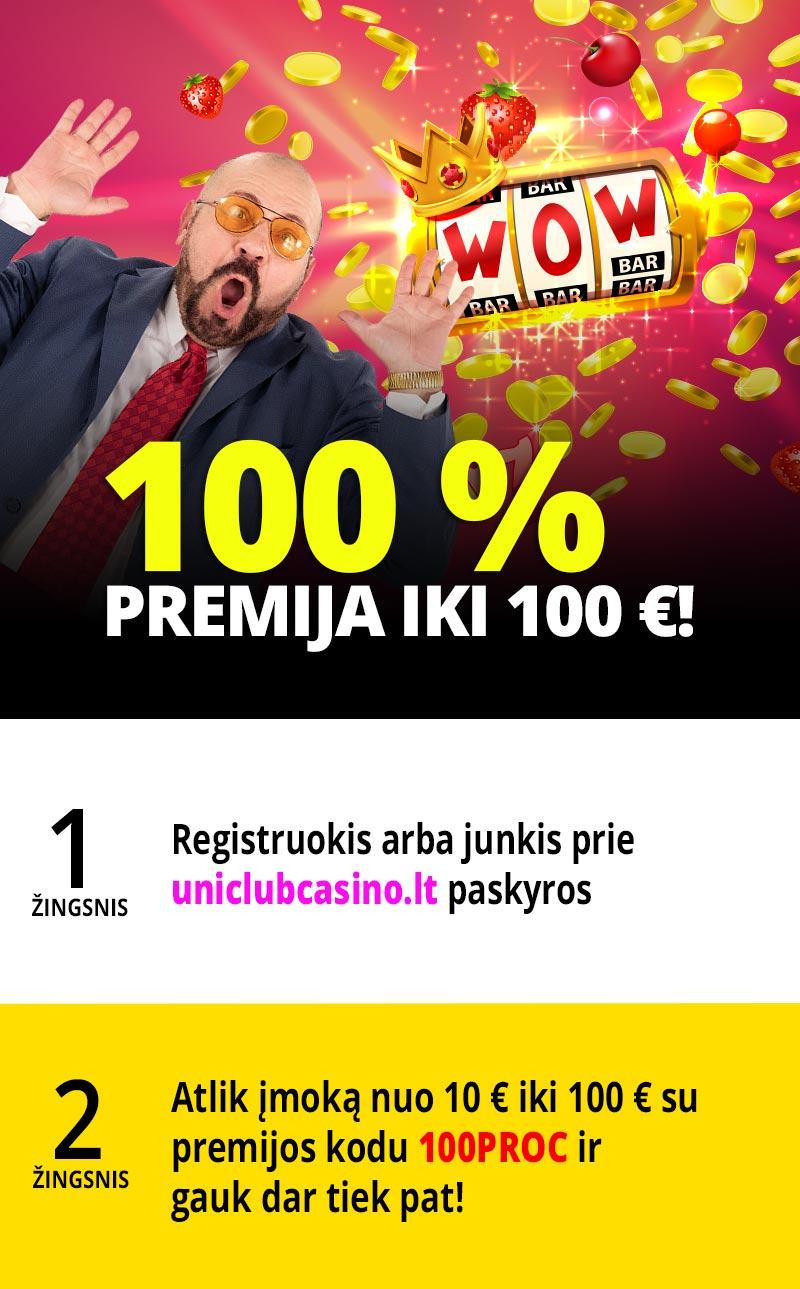 100%  premija