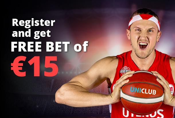 15€ Free Bet